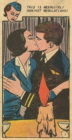 """""""This is Absolutely Against Regulations!"""", that's why they're doing it!! Funny Vintage Comic Book Art."""