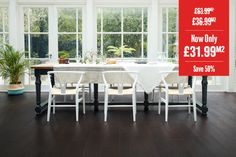 Home Choice Engineered European Rustic Oak Flooring x Liquorice Lacquered Wood Flooring Uk, Real Wood Floors, Engineered Wood Floors, Floors Direct, New Years Sales, Swirl Pattern, Dining Room Design, Engineering, Rustic
