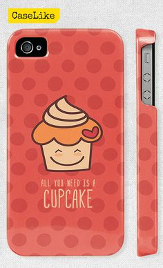 3D #iPhone 5 #Case  Cute #Cupcake On Pink Polka dot Full by #caselike, $22.00