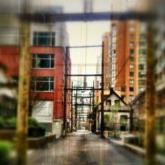 back alley Yaletown, Vancouver, BC  photograph by NikNaz K @NikNazK