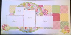 Crop Circles, Ink. Stamping & Scrapbooking: Chantilly Layouts