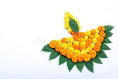 Marigold Flower Rangoli Design For Diwali Festival , Indian Festival Flower Decoration Stock Image - Image of india, decor: 128112245 Rangoli Designs Flower, Colorful Rangoli Designs, Rangoli Ideas, Rangoli Designs Images, Rangoli Designs Diwali, Flower Rangoli, Flower Designs, Flower Mandala, Diwali Decoration Items