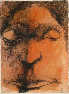 Brooding by Leonard Baskin