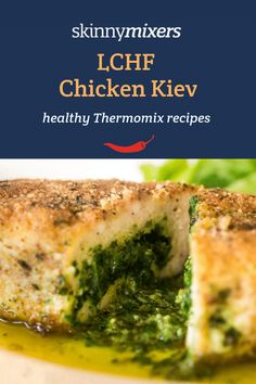 Skinnymixers LCHF Chicken Kievs will be a family favourite. Naturally gluten free, these Thermomix Kievs freeze really well for easy healthy meal prep! Chicken Kiev Recipe, Sauce For Chicken, Chicken Recipes, Chicken Meals, Thermomix Recipes Healthy, Easy Healthy Recipes, Savoury Recipes, Skinny Recipes, Lchf