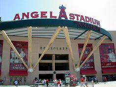 Catch an Angels baseball game at the Angels Stadium of Anaheim.