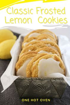 Chewy Iced Lemon Cookies are perfect for any time you have a craving for sweet lemony cookies. This easy to make recipe used your basic pantry staples plus lots of lemons. Made from scratch cookies are always the best and so are soft and chewy lemon glazed cookies.