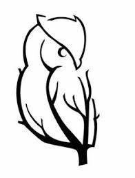 Image result for simple owl tattoo back