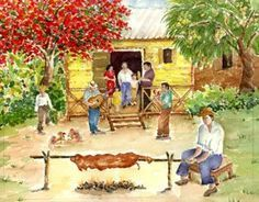 "Jibaro Painting | Lechon"" by Ana Noble-Isla"