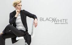 MILADYS - Women's Clothing: Dresses, Pants, Tops, Jackets, Shoes, Knitwear, Resortwear & Renè Taylor for the Fuller Figure Full Figured, Resort Wear, Art Direction, Knitwear, My Design, Stylists, Black And White, Clothing, Model