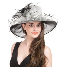 7bec09956bd Kentucky Derby hat for women Tea Party Wedding Hat Black and White two tone