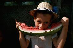 ear-deep in watermelon