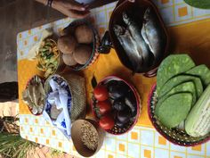 La mesa de ingredientes de ayer domingo 12 de mayo