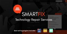 SmartFix - The Technology Repair Services WordPress Theme Template Wordpress, Tema Wordpress, Wordpress Theme Design, Best Wordpress Themes, Creating A Business, Promote Your Business, Theme Template, Cosmetic Shop, Ipad