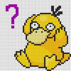 Image result for psyduck knitting pattern chart