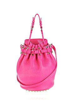 DIEGO IN SOFT PEBBLED FLAMINGO WITH PALE GOLD - Shoulder Bags Women - Alexander Wang Online Store