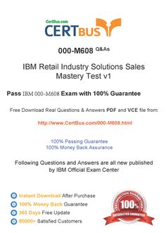 Candidate need to purchase the latest IBM 000-M608 Dumps with latest IBM 000-M608 Exam Questions. Here is a suggestion for you: Here you can find the latest IBM 000-M608 New Questions in their IBM 000-M608 PDF, IBM 000-M608 VCE and IBM 000-M608 braindumps. Their IBM 000-M608 exam dumps are with the latest IBM 000-M608 exam question. With IBM 000-M608 pdf dumps, you will be successful. Highly recommend this IBM 000-M608 Practice Test.