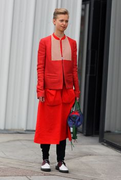Red Balenciaga | Street Fashion | Street Peeper | Global Street Fashion and Street Style I Paris