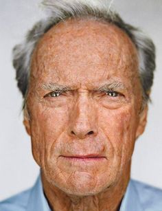 Clint Eastwood by Martin Schoeller - Carefully selected by GORGONIA www.gorgonia.it