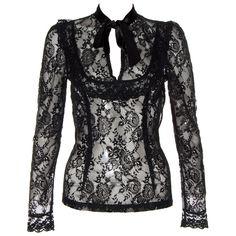Jawbreaker Steampunk Lace Shirt (Black)