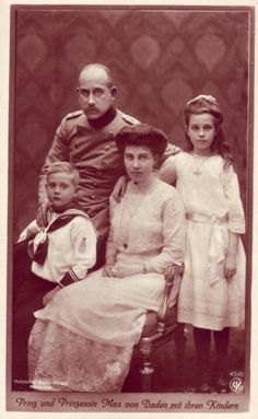 Prince Maximilian of Baden and Princess Marie Louise with their children
