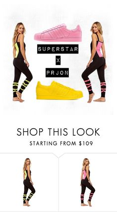 """""""superstar x prjon"""" by sweatinstyle on Polyvore featuring adidas Originals, adidas, women's clothing, women, female, woman, misses and juniors"""