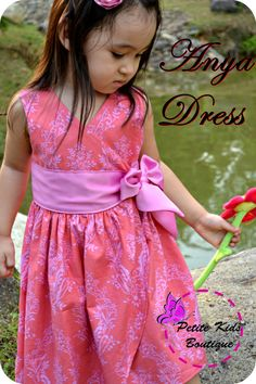 fairytale frocks and lollipops :: petite kids boutique, wong, anya dress, girl, baby, toddler, girls dress pattern, girls sewing pattern, children's sewing pattern, spring, fall, summer, sash, wrap, school, bow, special occasion, event, birthday, holiday, sewing, instant, digital, download, pdf, e-pattern, e-book, tutorial, digipattern