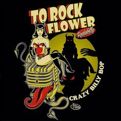 "61 Likes, 6 Comments - Rico Irdam Ardiansyah (@ricoirdam) on Instagram: ""Artwork for To Rock Flower! Check this cool band cats! @trf_rockabilly . #art #artwork #design…"""