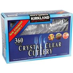 360 PCS Crystal Clear Disposable Cutlery | Cutlery Sets