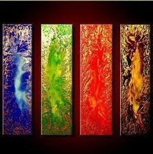 4 Pieces Large Modern Abstract Art Oil Painting Wall Decor Canvas No Frame | eBay