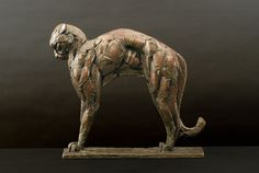 'Arching Cheetah Maquette' by Dylan Lewis. Bronze cheetah. http://www.rountreetryon.com/