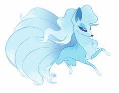 rollingrabbit — I rather like that dirt horse. Alolan Ninetales, Alolan Vulpix, Cute Pokemon, Pokemon Stuff, Fantasy Wolf, Original Pokemon, Cute Art Styles, Anime Animals, Anime Wolf