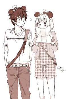 Ao no exorcist- Rin and Shiemi at disney world!!!