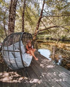 """Best Portugal Hotels auf Instagram: """"Who: @aquavillageresort • What: Luxury Hotel • Where: Oliveira do Hospital, Portugal • How: from 103€/night 📸…"""" Hotels Portugal, Outdoor Furniture, Outdoor Decor, Hanging Chair, Night, Luxury, Instagram, Random, Hanging Chair Stand"""