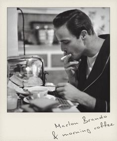 Marlon Brando & morning coffee