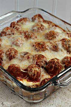 Meatball Sub Casserole - Julie's Eats & Treats