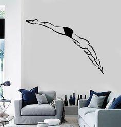 Wall Stickers Vinyl Dive Swimming Water Sport Platform Diving (z1657)