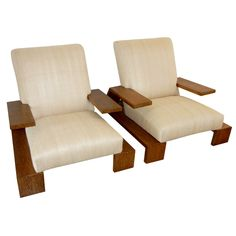 Jean-Michel Frank armchairs, designed for Hotel Llao Llao in Patagonia 1937.  Through Galerie XX.