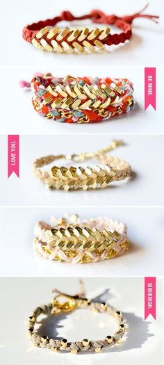 friendship bracelets DIY Inspiration