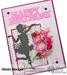 Hello and good morning! It's my turn again on the Gypsy Soul Laser Cuts Blog ! I made a pretty, pink birthday card to share. I don't get to ...