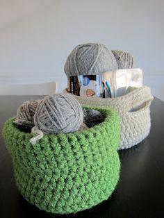(craft)LOVE: Two Free Patterns- Stash Baskets!