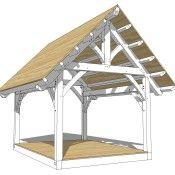 12×16 King Post Timber Frame Plan