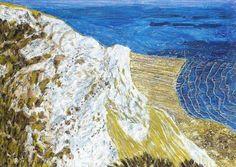 Beachy Head - Adrian Berg , 1994 British, oil on canvas, x 89 cm. Francis Picabia, Beach Scenes, Klimt, Impressionist, 21st Century, Oil On Canvas, Abstract Art, Waves, Ocean