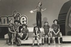 "Andrea Mcardle and the original ""orphans"" from Annie on the Mike Douglas Show, 1977"