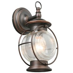 Shop Portfolio Caliburn 12.25-in H Oil-Rubbed Bronze Outdoor Wall Light at Lowes.com