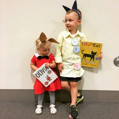 Olivia and Pete the Cat book costumes DIY