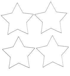 Gabarit étoile pour les décorations