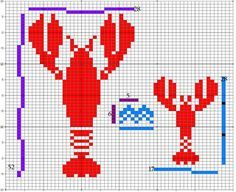 Link Lobster Shirt Chart - 2 sizes by Malon Bruce