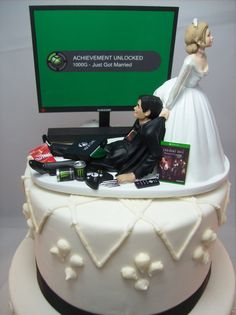 Wedding Cakes Discover Video Game Achievement Unlocked Engagement Marry Funny Wedding Cake Topper Gamer Junkie Gaming Interracial Bride & Groom Tan Hispanic X Really Funny Memes, Stupid Funny Memes, Funny Relatable Memes, Haha Funny, Funny Golf, Hilarious, Before Wedding, Wedding Day, Wedding Vows