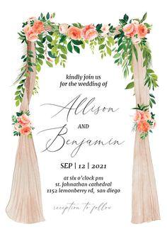 Canopie - Wedding Invitation #invitations #printable #diy #template #wedding Free Wedding Invitations, Gift Registry, Response Cards, Reception, Printable, Screen Wallpaper, Diy, Computer Wallpaper, Bricolage