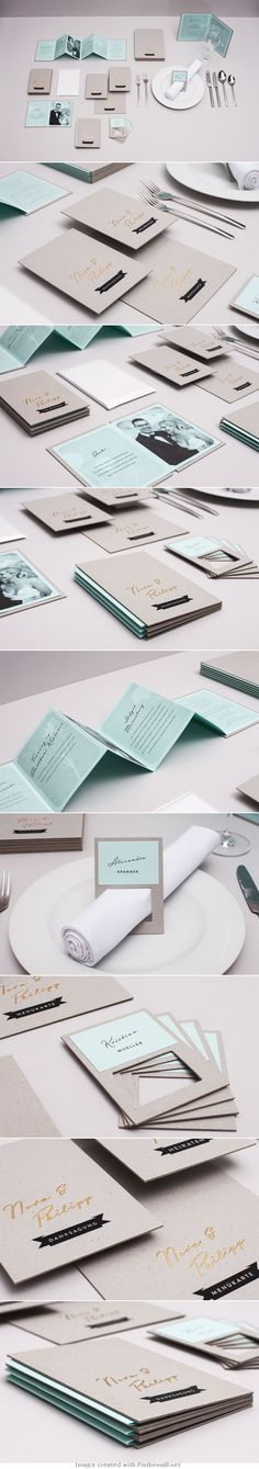 N&P wedding invitation